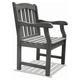 Vifah Renaissance Outdoor Hand-scraped Wood Garden Armchair