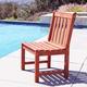 Vifah Malibu Outdoor Garden Armless Chair