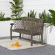 Vifah Renaissance Outdoor 5ft Hand-scraped Wood Garden Bench