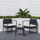 Vifah Tierra 3-Piece Outdoor Wicker Coffee Lounger Set with Cushion