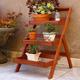 Vifah Malibu Outdoor Wood Garden Plant Stand
