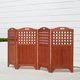 Vifah Malibu Outdoor Wood Privacy Screen