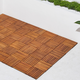 Vifah Malibu 8-Slat Acacia Interlocking Deck Tile (Set of 10)