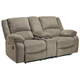 Draycoll Reclining Loveseat with Console