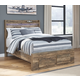 Rusthaven Full Panel Bed with 2 Storage Drawers