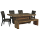 Sommerford Dining Table and 4 Chairs and Bench