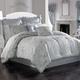 Woven Jaquard 4-Piece Queen Comforter Set