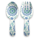 Tarhong Rio Turquoise Floral Servers