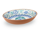 Tarhong Rio Turquoise Floral Oval Serve Bowl