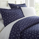 Midnight Blossom Patterned 3-Piece Twin/Twin XL Duvet Cover Set