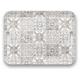 Tarhong Portico Tile Gray Handled Tray