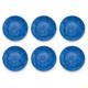 Tarhong Bali Brights Blue Reactive Salad Plate (Set of 6)
