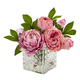 Home Accents Peony in Glass Vase