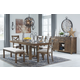 Moriville Dining Table and 4 Chairs and Bench