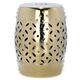 Safavieh Gold Lattice Coin Garden Stool