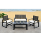 Safavieh Ozark Outdoor Living Set (Set of 4)