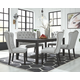 Jeanette Dining Table and 4 Chairs and Bench