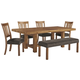 Tamilo Dining Table and 4 Chairs and Bench