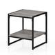 Oak Grey Finish Modern 2-Tier End Table