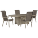 Windon Barn Outdoor Fire Pit Table and 4 Chairs
