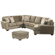 Patola Park 4-Piece Sectional with Ottoman