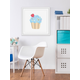 Home Accents Blue Cupcake Framed Painting Print