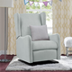 Baby Relax Rylee Tall Wingback Nursery Glider Recliner Chair