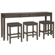 Caitbrook Counter Height Dining Table and Bar Stools (Set of 3)