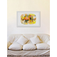 Home Accents Elephant Colors Framed Painting Print