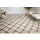Power Loomed Brisbane Ivory and Charcoal 5' x 7' Area Rug