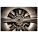 Home Accents Vintage Plane Propeller Glass Art