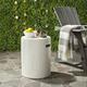 Safavieh Trunk Indoor/Outdoor Modern Concrete Accent Table