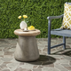 Safavieh Button Indoor/Outdoor Modern Concrete Accent Table