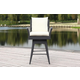 Safavieh Hayes Outdoor Wicker Swivel Armed Counter Stool