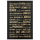 Home Accents USA Cities Wall Art