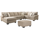 Baceno 4-Piece Sectional with Ottoman