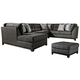 Reidshire 3-Piece Sectional with Ottoman