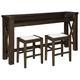 Hallishaw Counter Height Dining Table and 2 Barstools