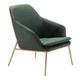 Modern Debonair Green Arm Chair