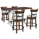 Valebeck Counter Height Dining Table and 4 Barstools
