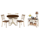 Whitesburg Dining Table and 4 Chairs with Storage