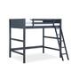 Kids Denver Full Size Wooden Loft Bed with Ladder