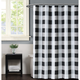 Pem America Truly Soft Everyday Buffalo Plaid Black Shower Curtain
