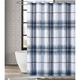Pem America London Fog Nolan Houndstooth Stripe Shower Curtain