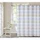 Pem America Cottage Classics Spa Stripe Shower Curtain