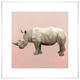 GreenBox Art Rhino On Deep Blush by Cathy Walters Art Prints