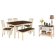 Whitesburg Dining Table and 4 Chairs and Bench with Storage