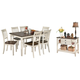 Whitesburg Dining Table and 6 Chairs with Storage
