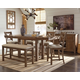 Moriville Counter Height Dining Table and 4 Barstools and Bench with Storage