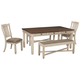 Bolanburg Dining Table and 2 Chairs and 2 Benches